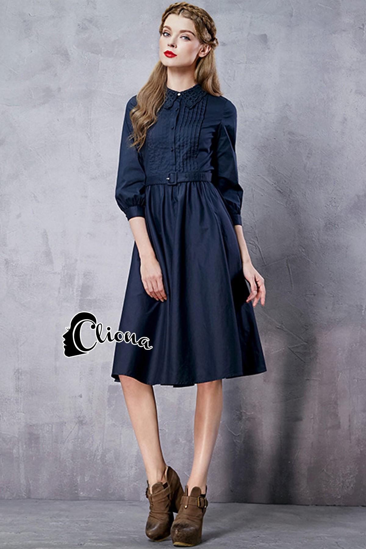 พร้อมส่ง dress สีดำ ผ้า cotton