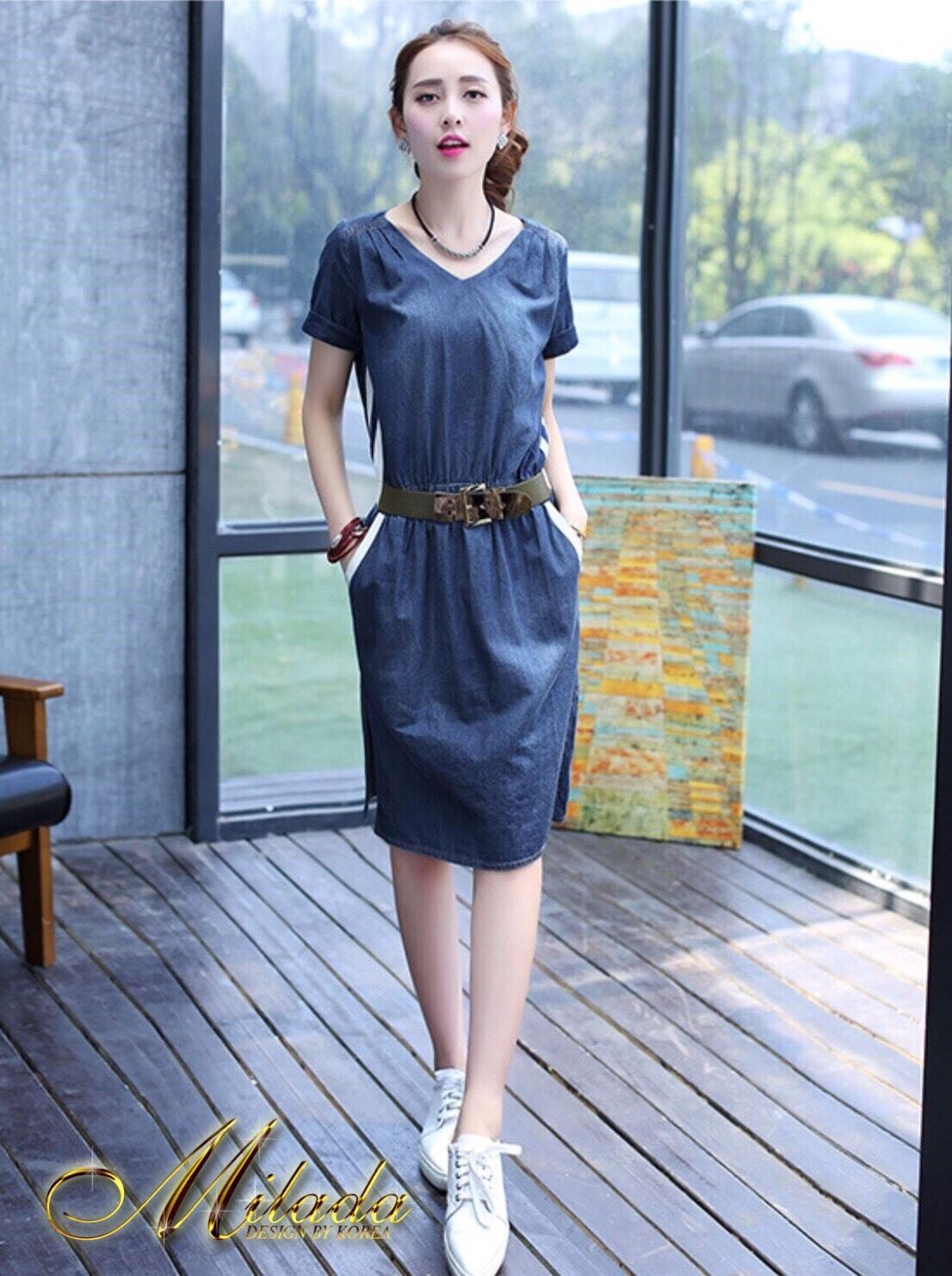พร้อมส่ง DRESS JEAN FROM KOREA