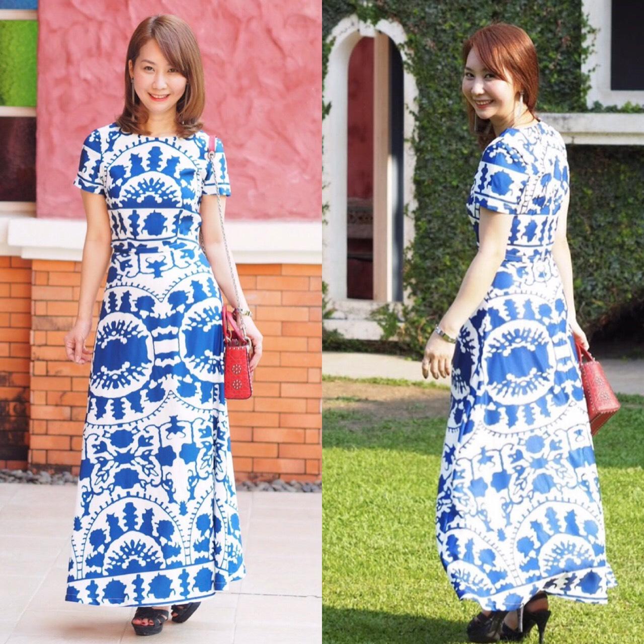 เสื้อผ้าเกาหลี พร้อมส่ง เสื้อ กับ กระโปรง โทนสีน้ำเงิน
