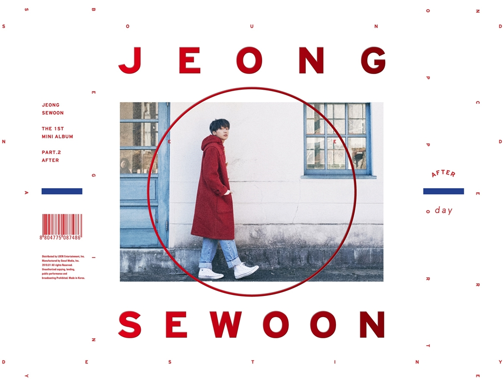 [Pre] Jeong Se Woon : 1st Mini Album Part.2 - AFTER (DAY Ver.) +Poster
