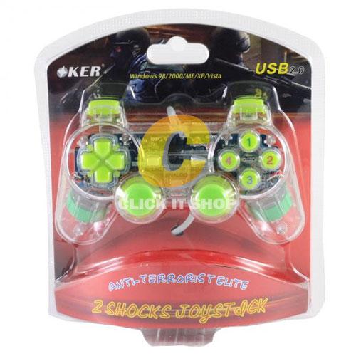 JoyStick Analog 'OKER' U-706b - สีเขียว