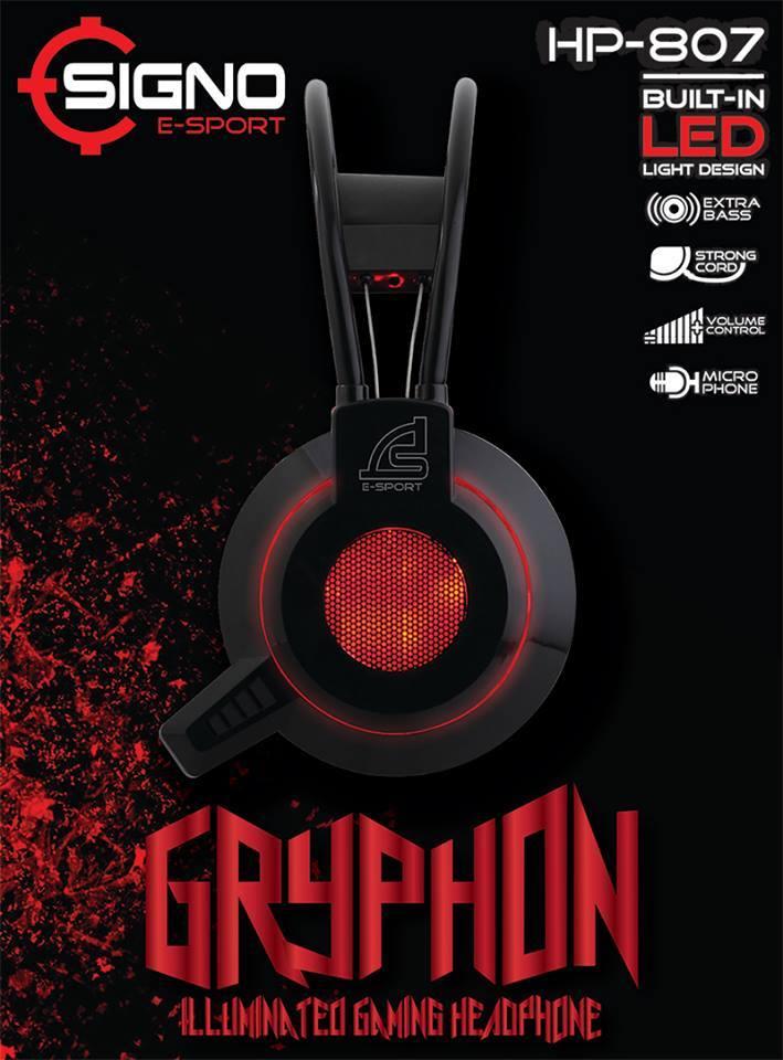 SIGNO E-Sport HP-807 GRYPHON Illuminated Gaming