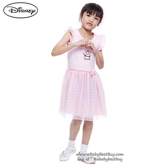 (Size 4-6-8) ชุดเดรส Disney Marie สีชมพูอ่อน แขนกุด ดิสนีย์แท้ ลิขสิทธิ์แท้ (สำหรับเด็ก4-6-8 ปี)