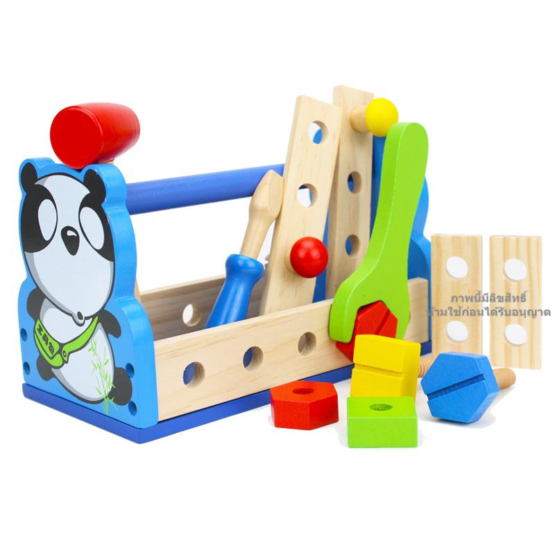 ชุดเครื่องมือช่างพร้อมกล่องใส่ลายแพนด้า Panda tools basket