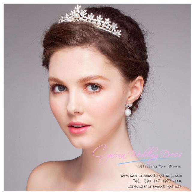 M-0141 ขาย เทียร่าเจ้าสาว เพชร มุข สวย หรู ดูดี เหมาะกับชุดแต่งงานเจ้าหญิง ราคาถูก กว่าเช่า