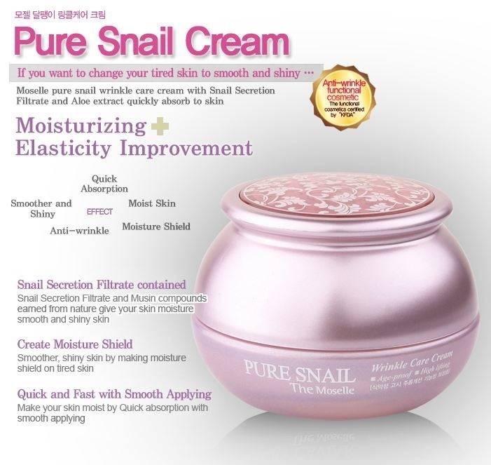 Bergamo The Moselle Pure Snail Wrinkle Care Cream