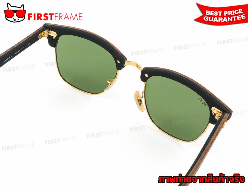 แว่นกันแดด RayBan RB3016M 1182/4E CLUBMASTER WOOD4