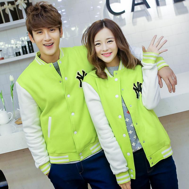 Pre Order เสื้อแจ็ตเก็ตคู่รักแฟชั่นเกาหลี แนวเสื้อเบสบอล แต่งกระดุมหน้า ปักลาย NY มี6สี