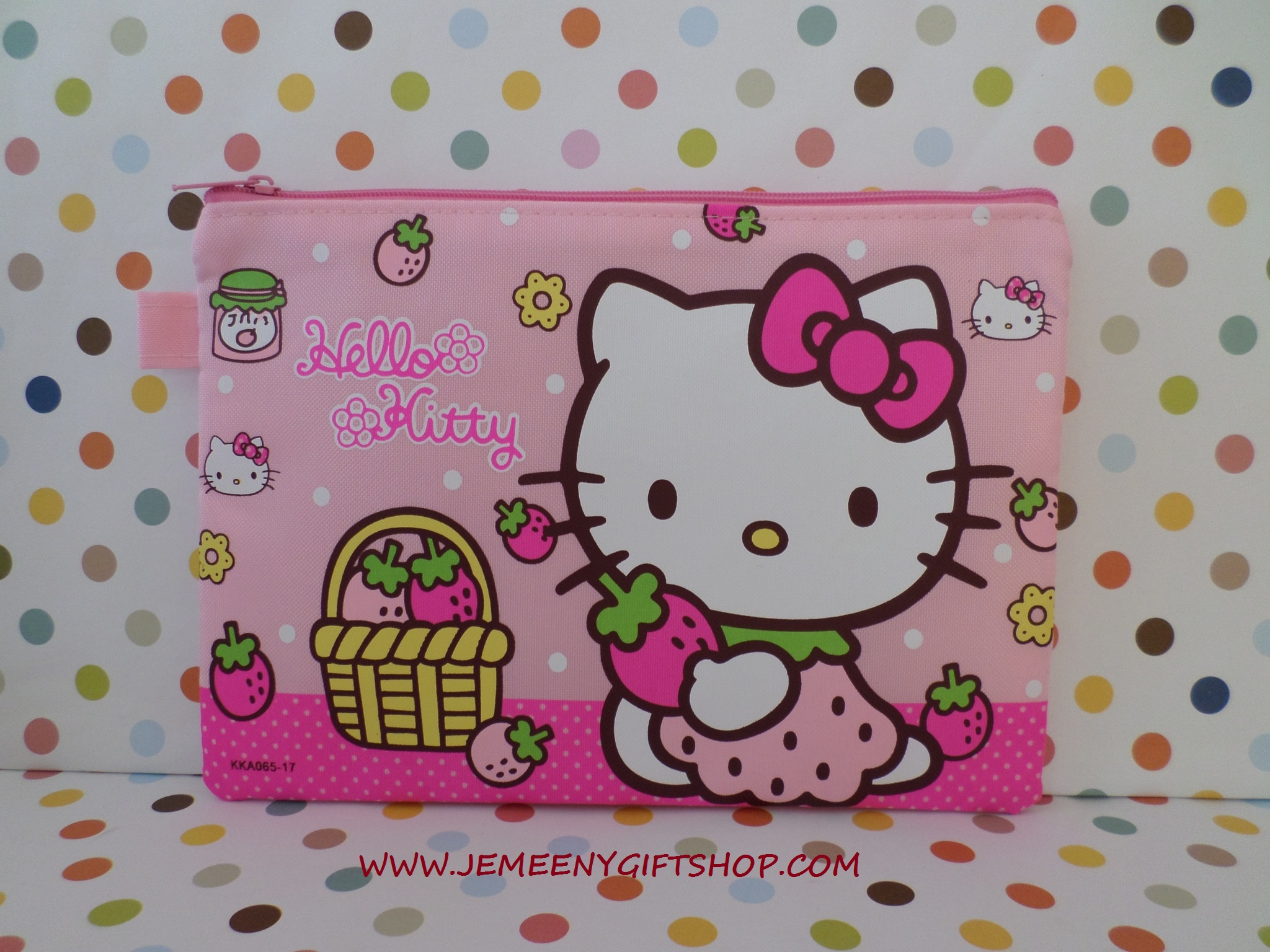 """กระเป๋าใส่ดินสอปากกา คิตตี้ kitty#8 ขนาด 8.5"""" x 6"""" นิ้ว"""