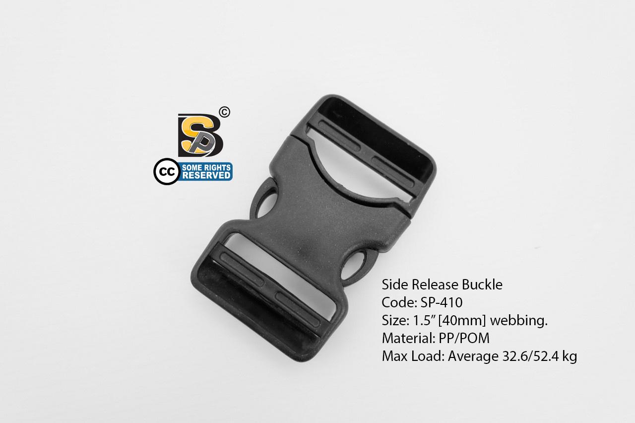 """ก้ามปู 1.5"""" เปลือย (แข็ง) / Side Release Buckle 1.5"""""""
