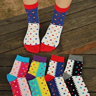 S103**พร้อมส่ง** (ปลีก+ส่ง) ถุงเท้าแฟชั่นเกาหลี ข้อยาว เนื้อดี งานนำเข้า(Made in china)