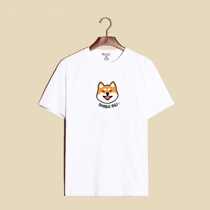 เสื้อยืดลายสกีนแขนสั้น ชิบะ อินุ (Shiba Inu)**มีให้เลือก 3 สี**