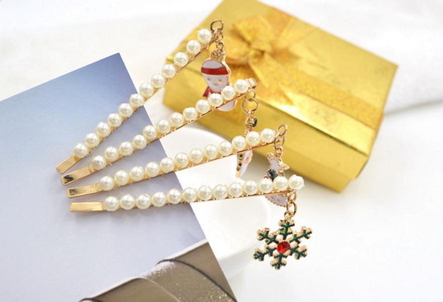มี 4 แบบ กิ๊บ คริสต์มาส pearl HR2412