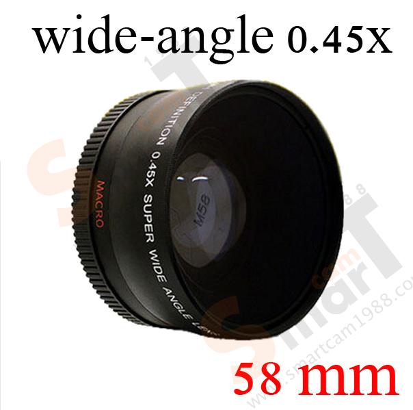 58mm Super Wide-Angle Lens 0.45X Wide Angle + Macro Lens 0.45x