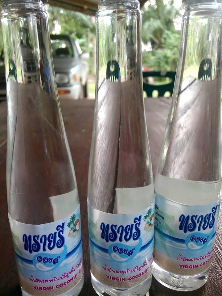 น้ำมันมะพร้าวสกัดเย็นบริสุทธิ์ หาดทรายรี 250 มิลลิลิตร