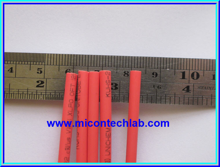 1x Heat Shrink Tube 2.5mm RED Color 1 meter Length (ท่อหด)