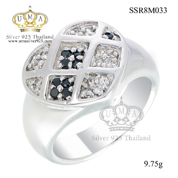 แหวนเงิน ประดับเพชร CZ แหวนทรงหัวใจ ดีไซน์อลังการ ใส่แบบเต็มๆนิ้วมือ เพิ่มความโดดเด่นให้กับเรียวนิ้ว เพิ่มให้ลุคของคุณดูสง่า รับรองได้ว่ามีสไตล์สุดๆ