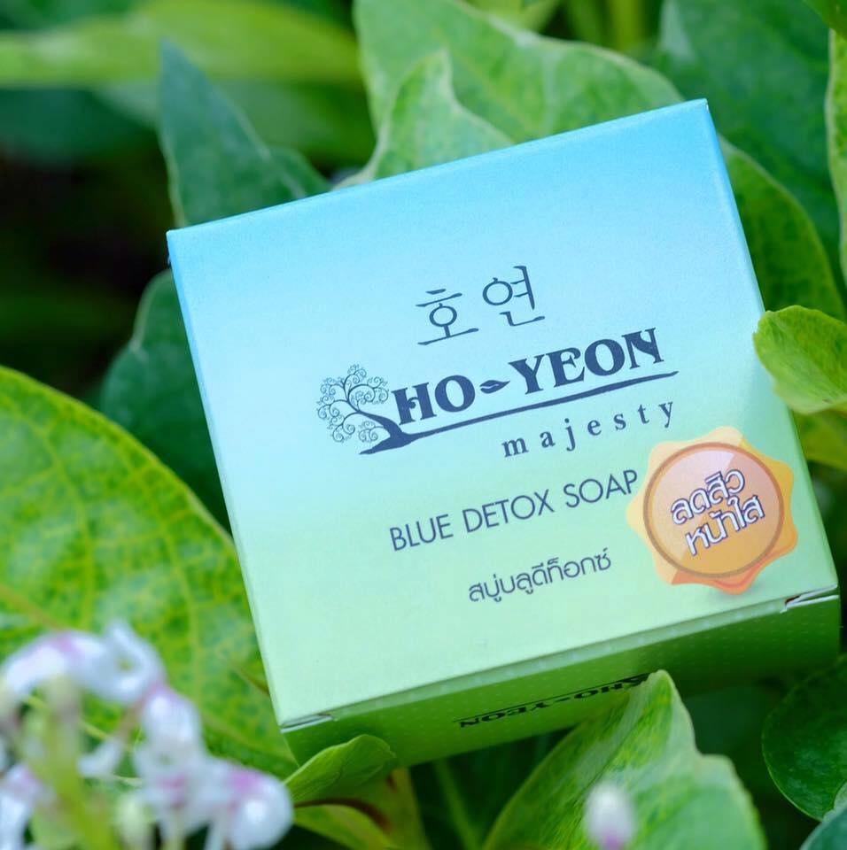 Ho-yeon Majesty Blue Detox Soap 70 g. โฮยอน สบู่บลูดีท็อกซ์ ลดสิว หน้าใส