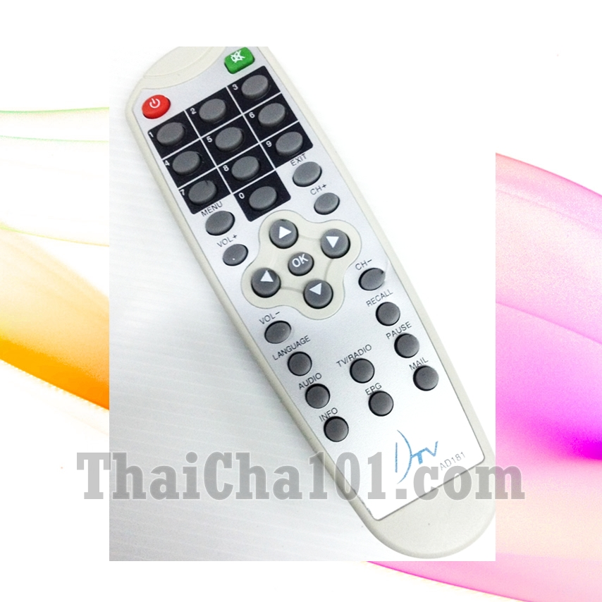 รีโมท DTV เครื่องสีขาว