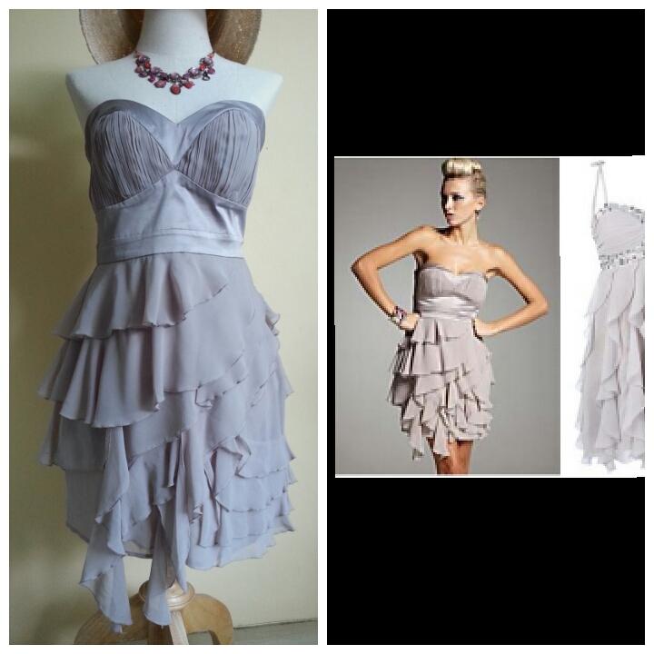 Lipsy Ruffle Bandeau Dress Size uk12