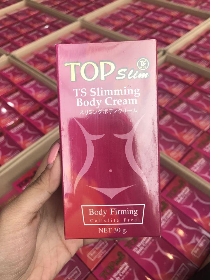 Top Slim TS Slimming Body Cream 30 g. ทอป สลิม ครีมลดสัดส่วน ทาตรงไหน ผอมตรงนั้น
